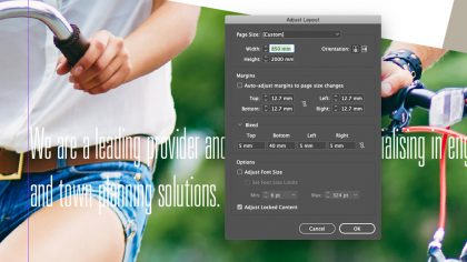 InDesign Adjust Layout